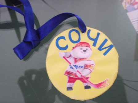 Поделка олимпийская медаль 12